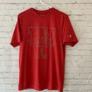Champion University of Wisconsin Badgers tee shirt